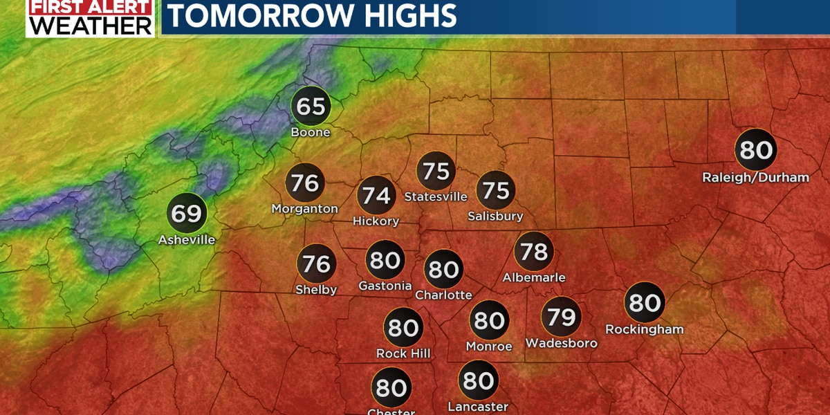 Patchy rain and fog overnight with more sunshine Tuesday afternoon