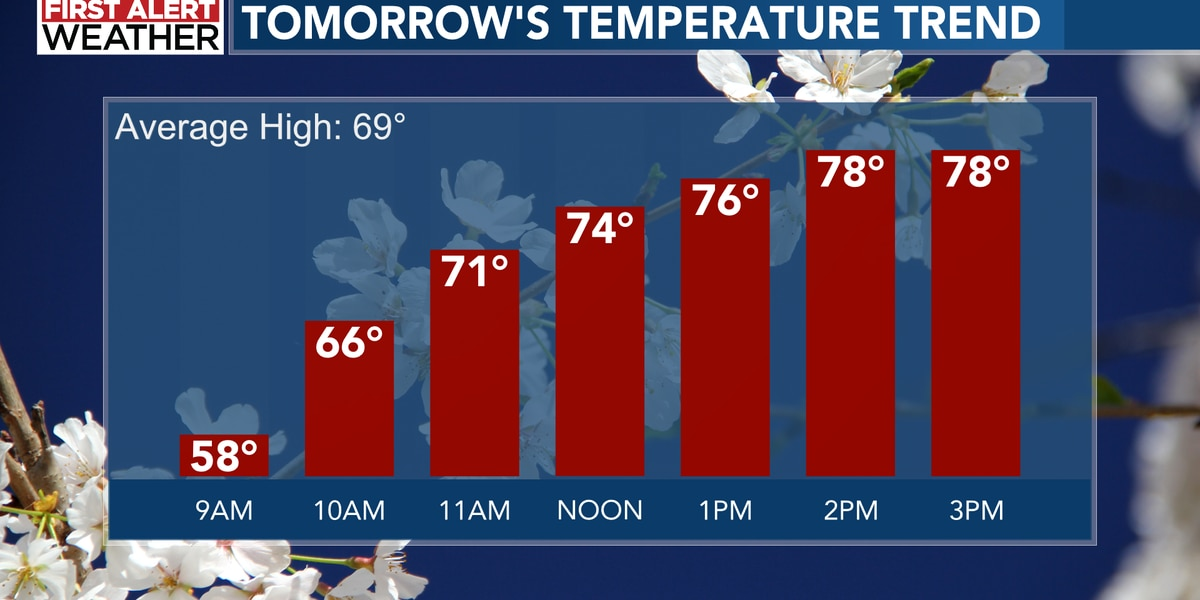 80s are in our future! (But so is more rain)