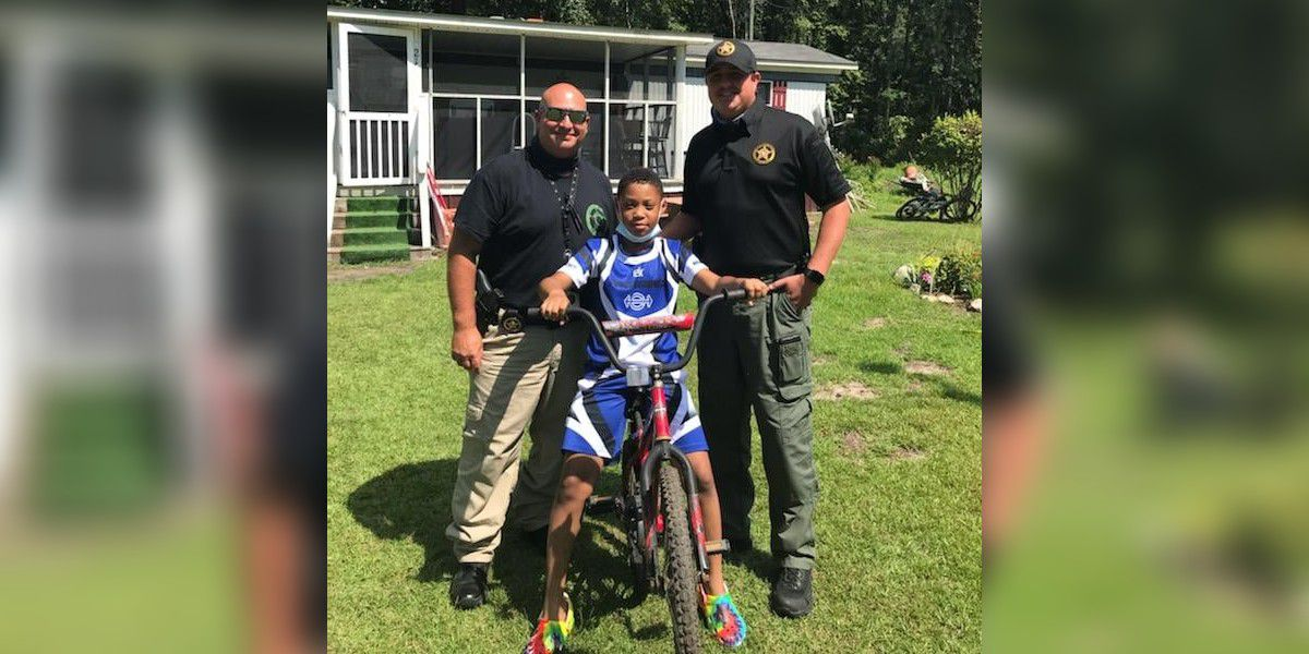 Deputy delivers bike to boy who had his stolen in Chesterfield County, S.C.