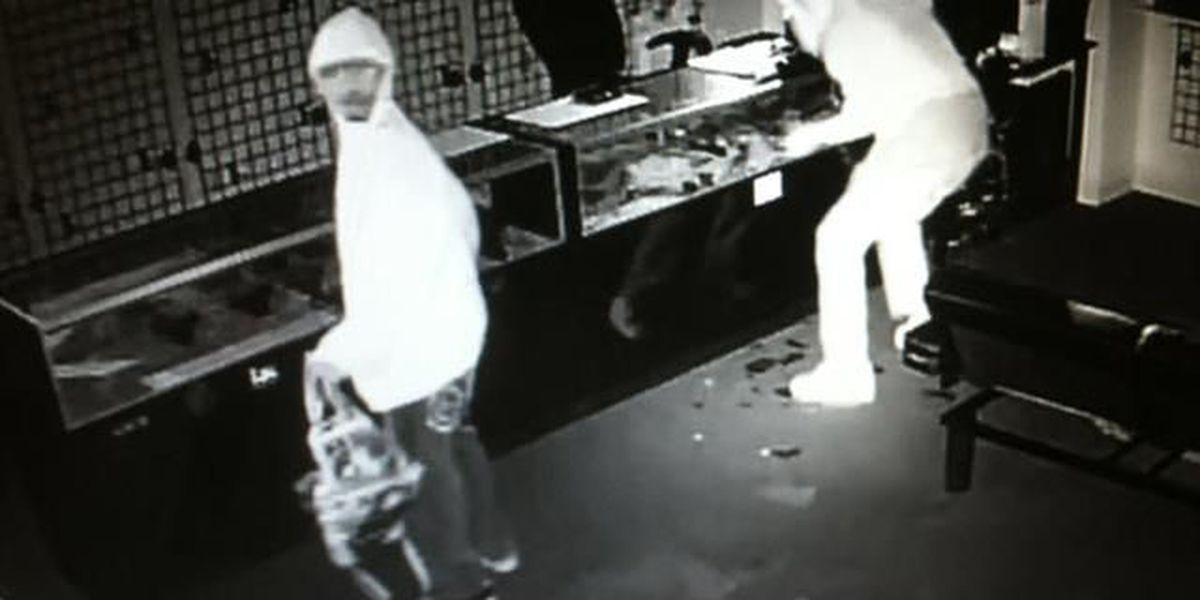 Duo caught on video stealing 16 handguns from Gaston County shop