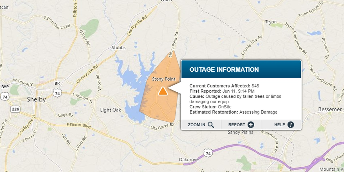 Power outage affecting hundreds of Cleveland County residents