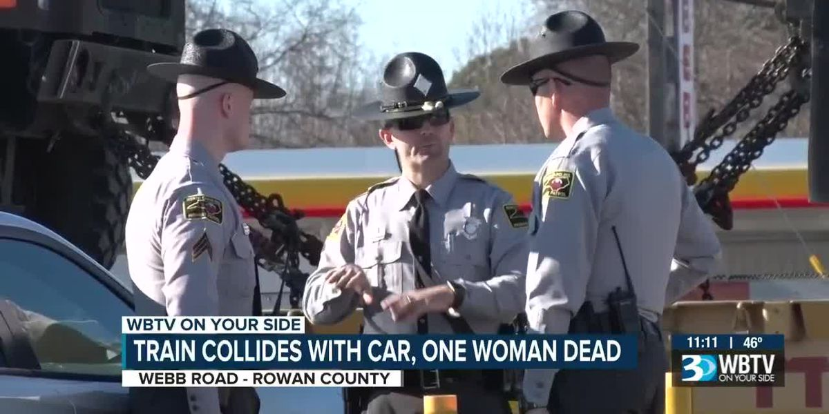 Train collides with car, one woman dead