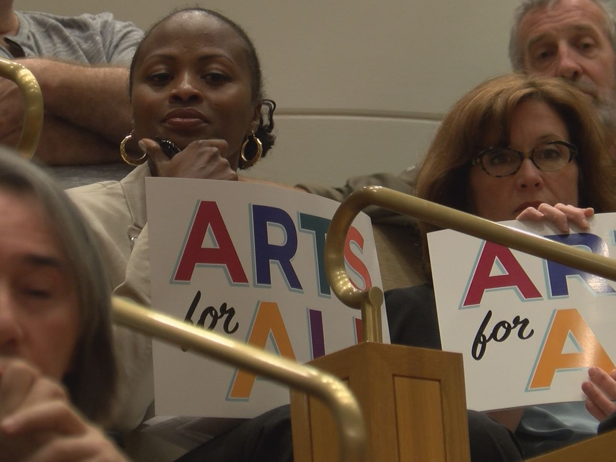 Dozens pack Mecklenburg County Commissioners meeting to support proposed sales tax referendum that would benefit arts programs