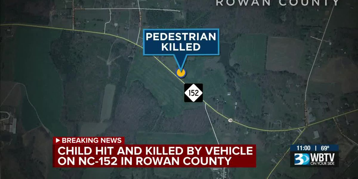 Child dies after being hit by vehicle on highway near Rowan County