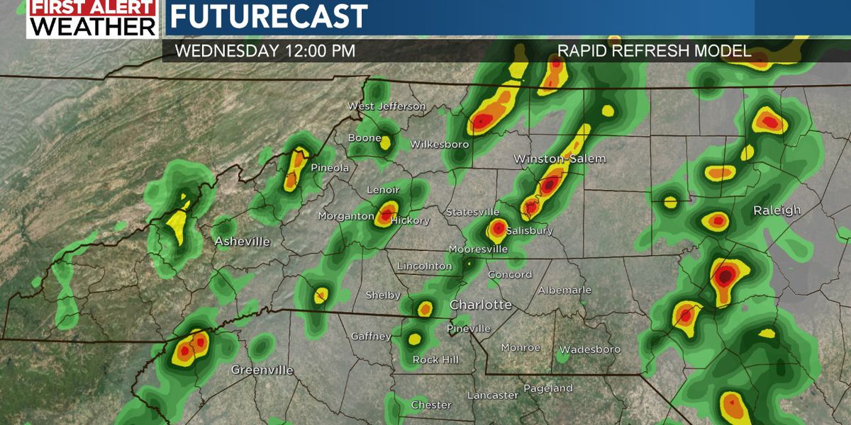 First Alert: Flash Flood Watch in effect as heavy rain drenches WBTV viewing area