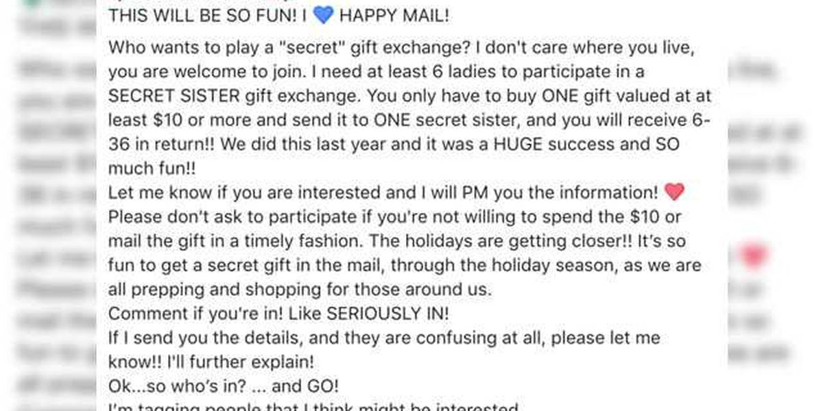 Holiday scam is making the rounds on Facebook