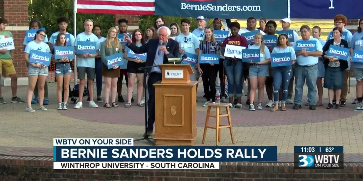 Bernie Sanders holds rally at Winthrop University