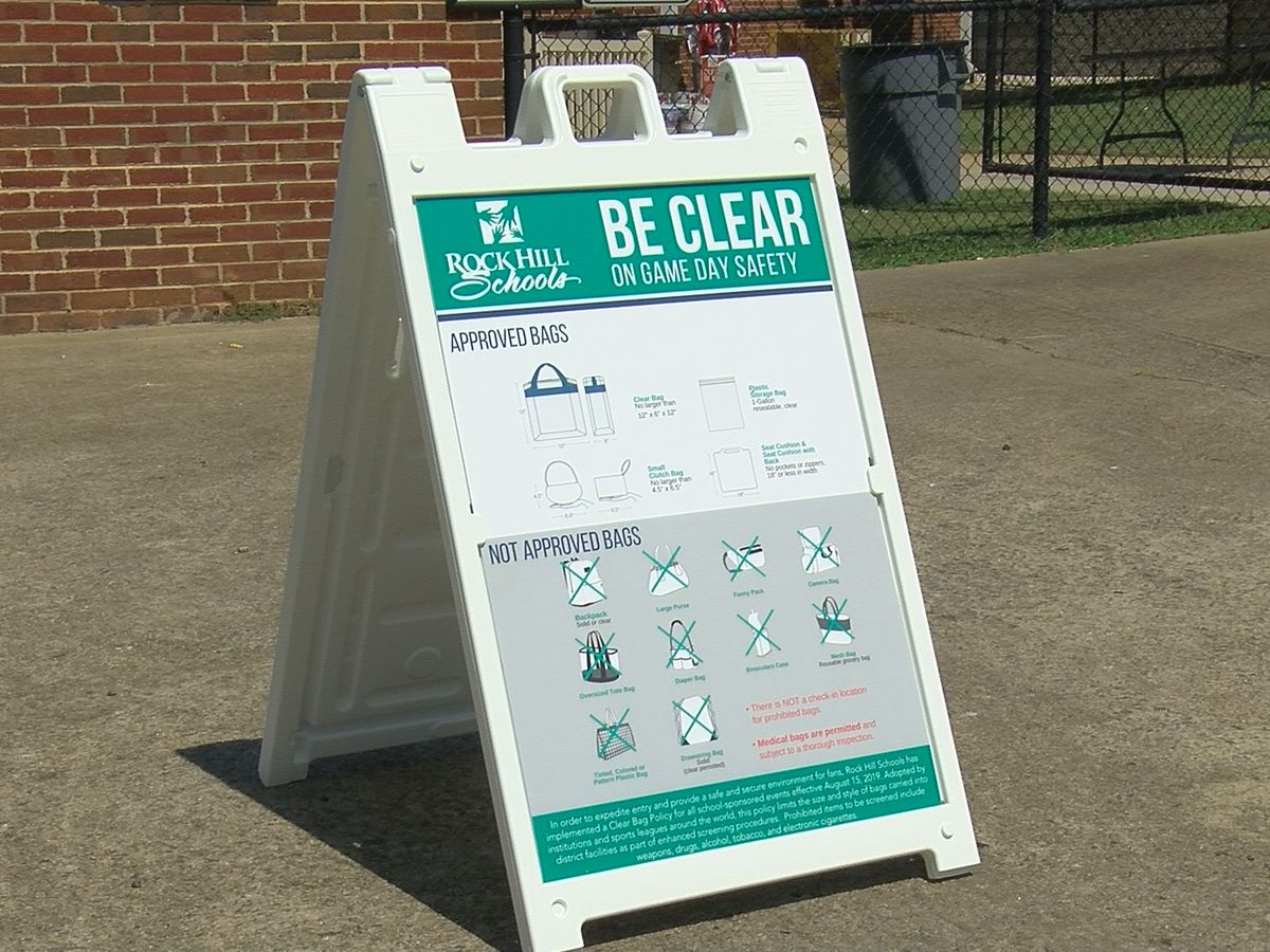Rock Hill School District implements clear-bag policy at home football games