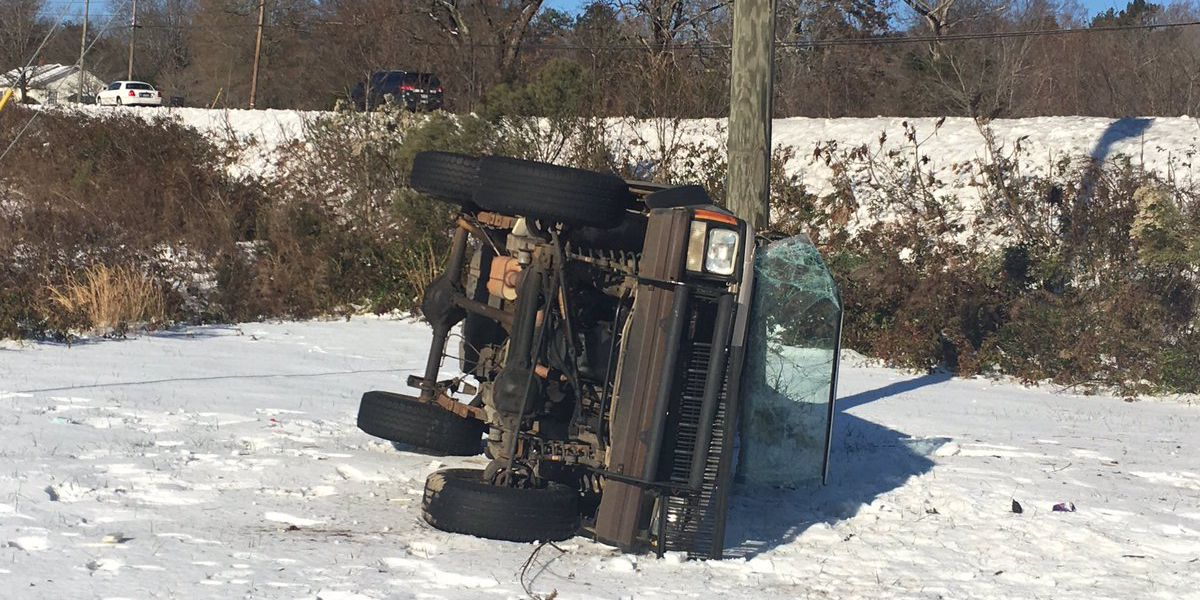 Overnight freeze causing trouble for drivers on rural roads