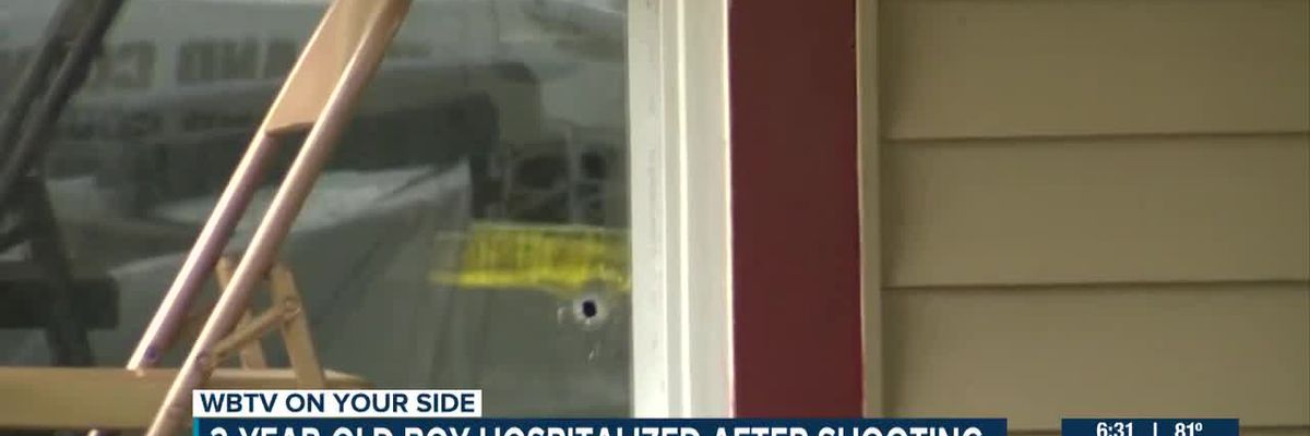 2-year-old boy hospitalized after shooting