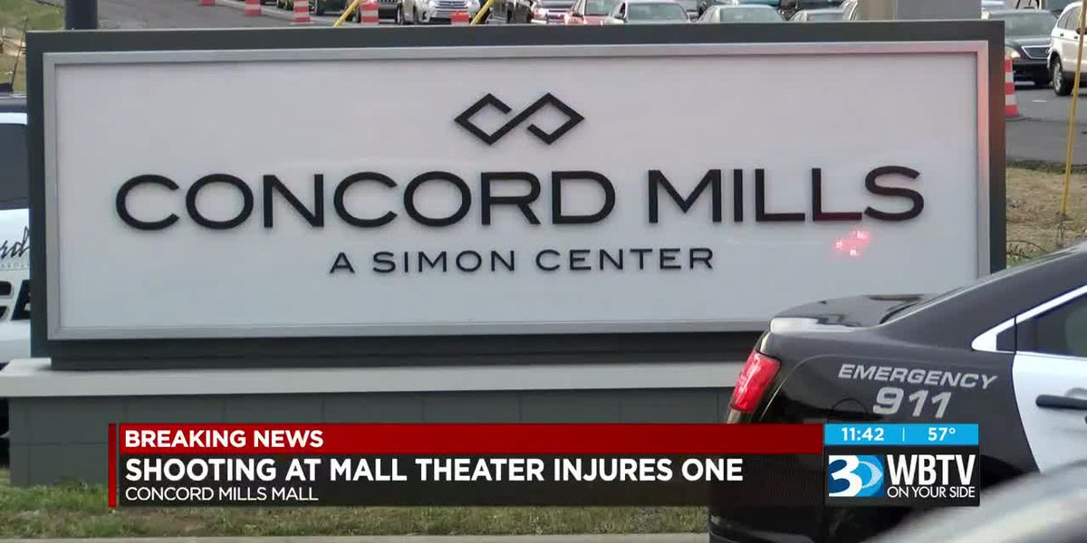 Shooting at Concord Mills Mall theater injures one
