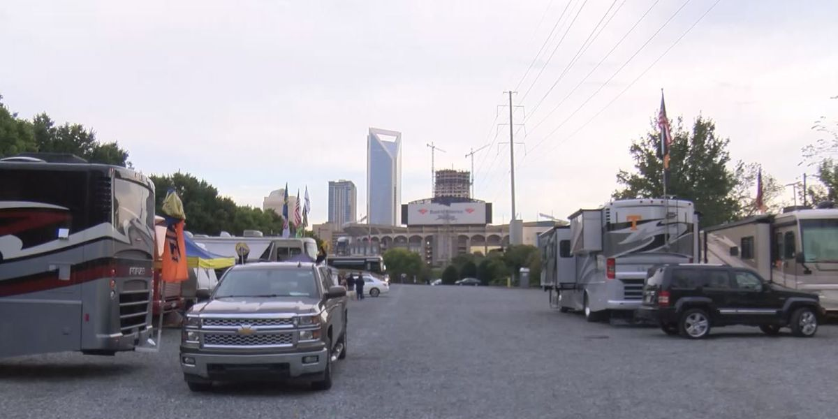 Fans gather for Belk College Kickoff at Bank of America Stadium