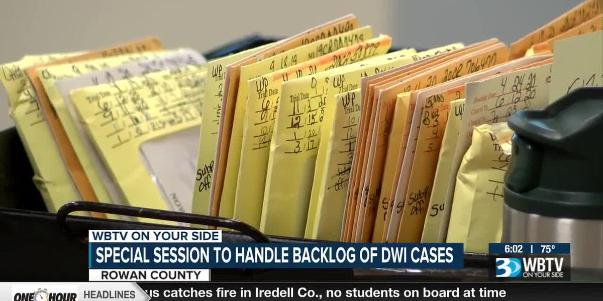 Special session to handle backlog of DWI cases in Rowan County