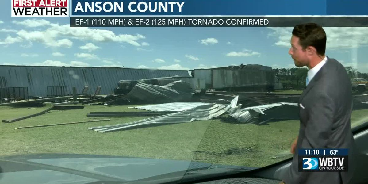 Two tornadoes touched down in Anson County, Raleigh NWS confirms