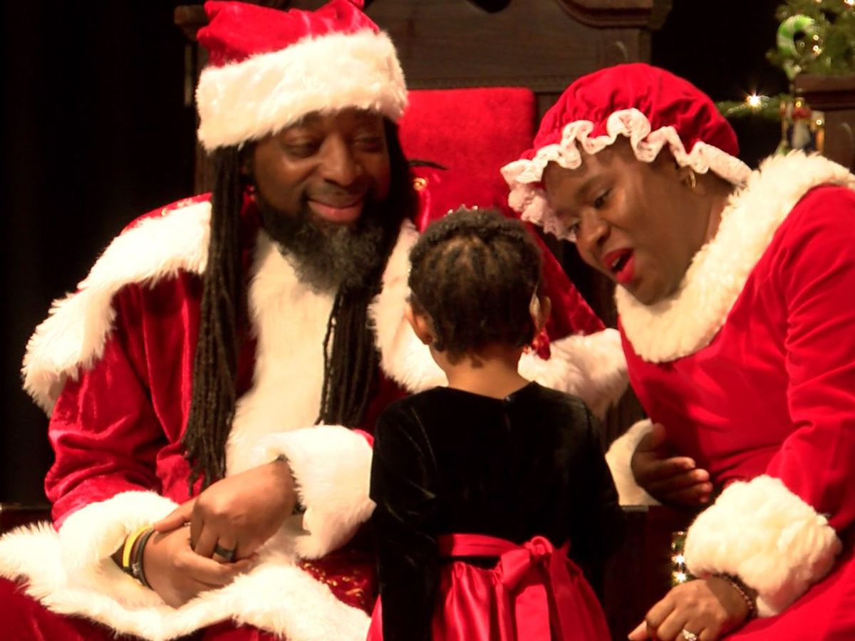 Santa and Mrs. Claus pay a visit to Johnson C. Smith University