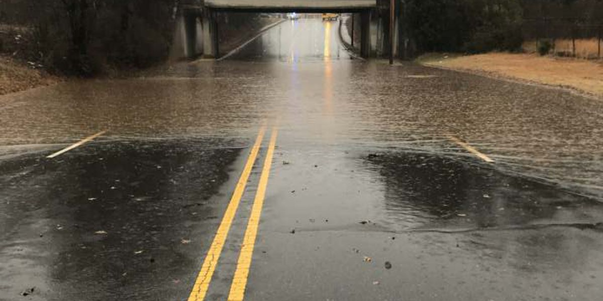 Flooding closes road in Newton