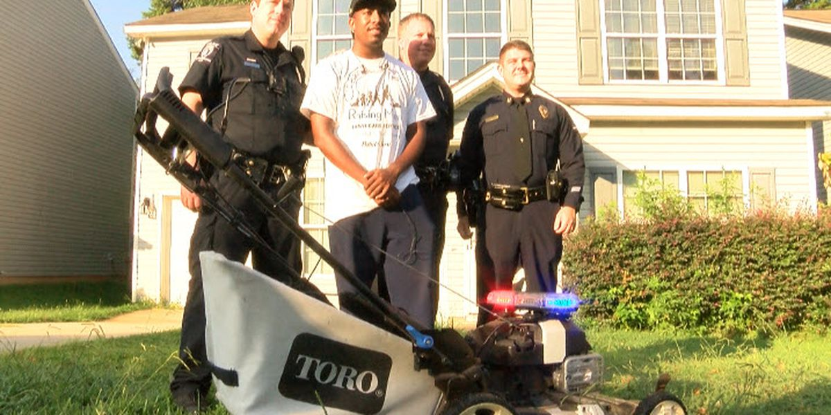 Man mowing lawns in every U.S. state gets help from CMPD