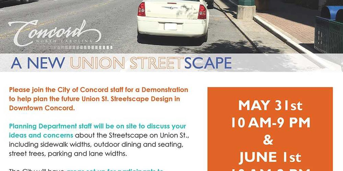 Downtown Concord streetscape makeover ideas to be demonstrated, discussed