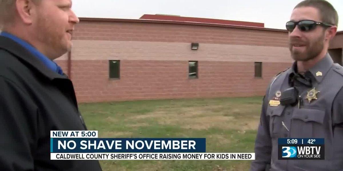 Caldwell deputies growing beards for charity