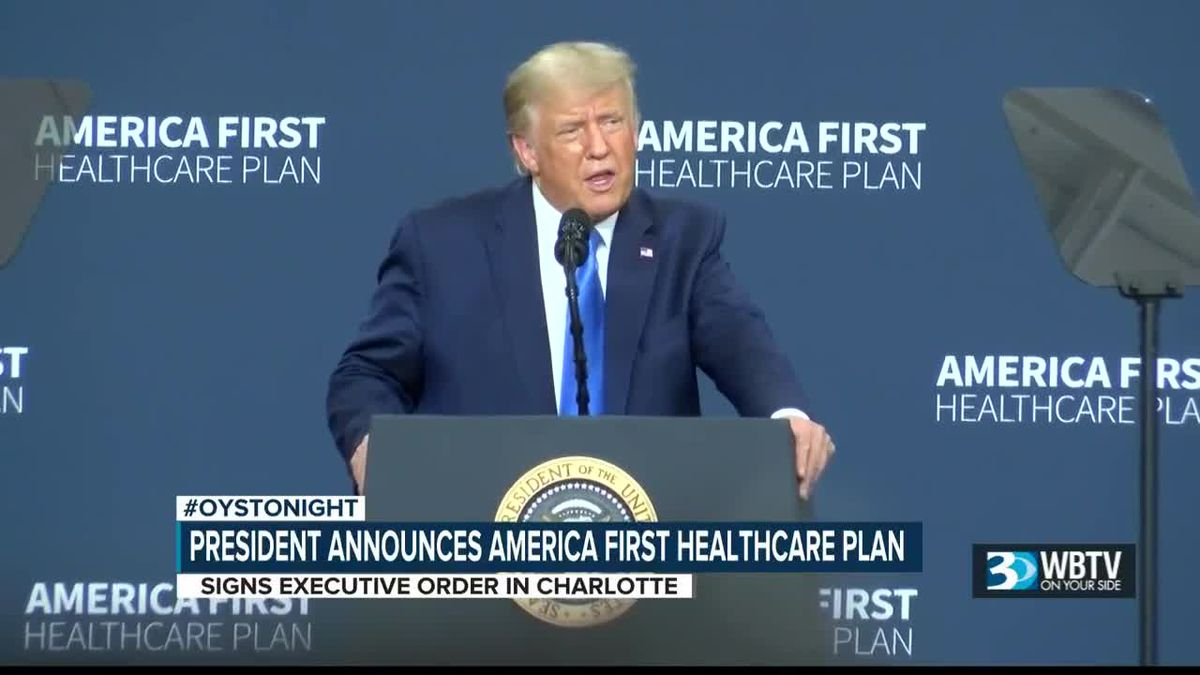 "President announces ""America First"" healthcare plan"