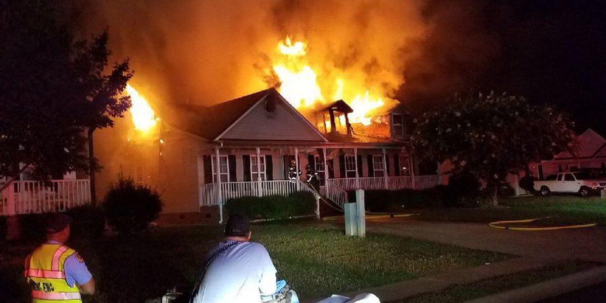 Crews battle house fire in Rock Hill