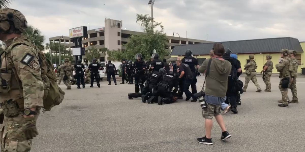 Myrtle Beach police make arrests after protesters remain out past 6 p.m. curfew
