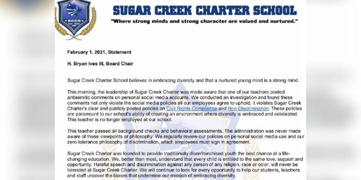 NC charter school teacher loses job over anti-Semitic tweet
