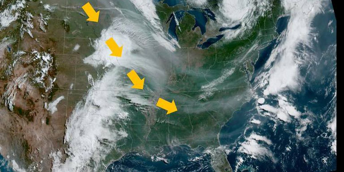 The skies over North Carolina are gloomy for an odd reason ...