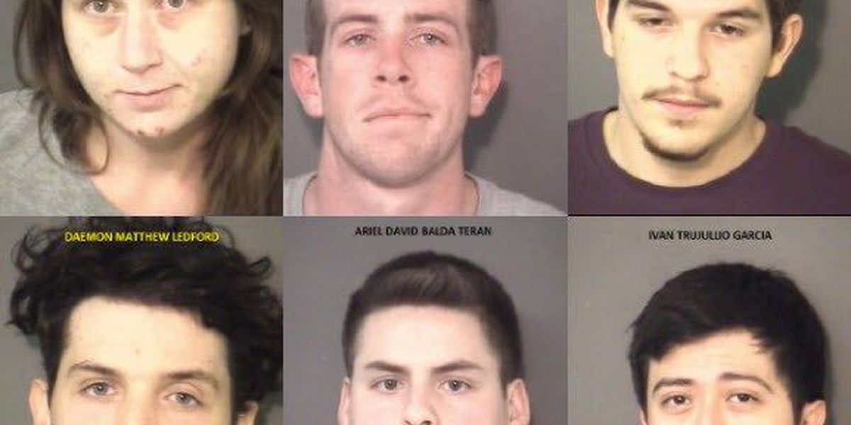 Six arrested in Union County after a week long drug trafficking bust
