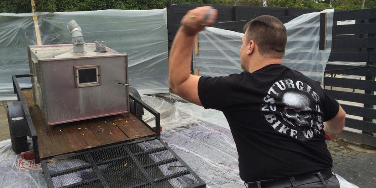 Old Rowan Animal Shelter gas chamber takes a bashin'