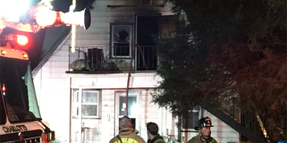 Fire damages vacant home in northwest Charlotte