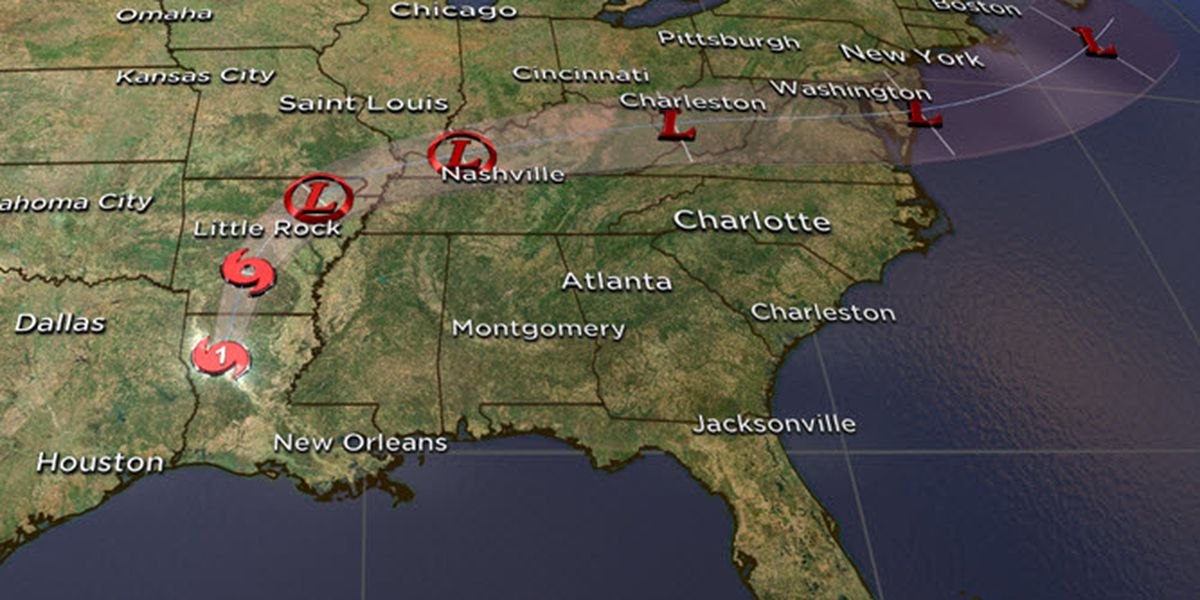 Laura bringing damaging winds, heavy downpours to inland Louisiana, the Ozarks