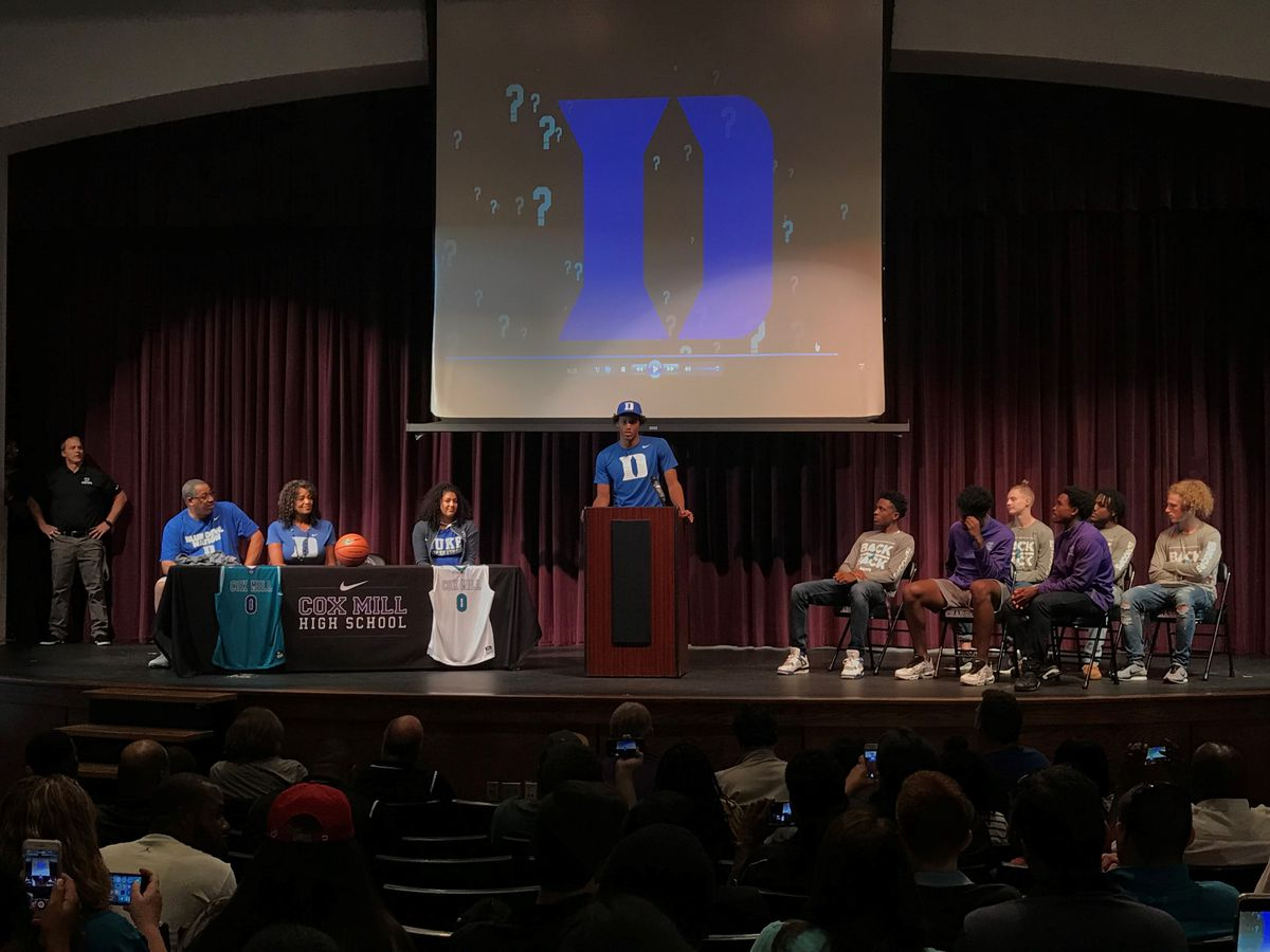 Cox Mill's Wendell Moore Commits to Duke