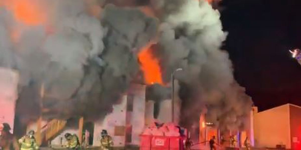 Crews battle massive fire at east Charlotte apartments
