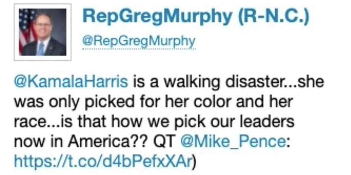 State Democrats call Rep. Greg Murphy tweet racist, xenophobic