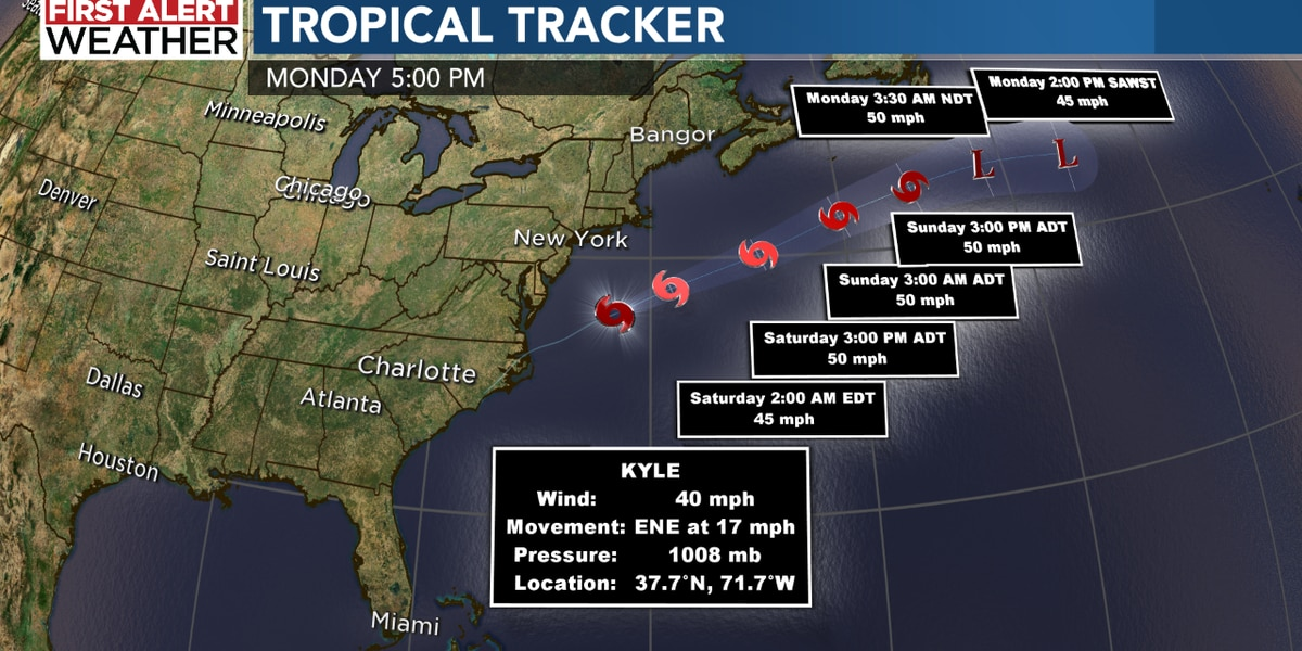 Tropical Storm Kyle forms, setting new record in 2020 Atlantic Hurricane Season
