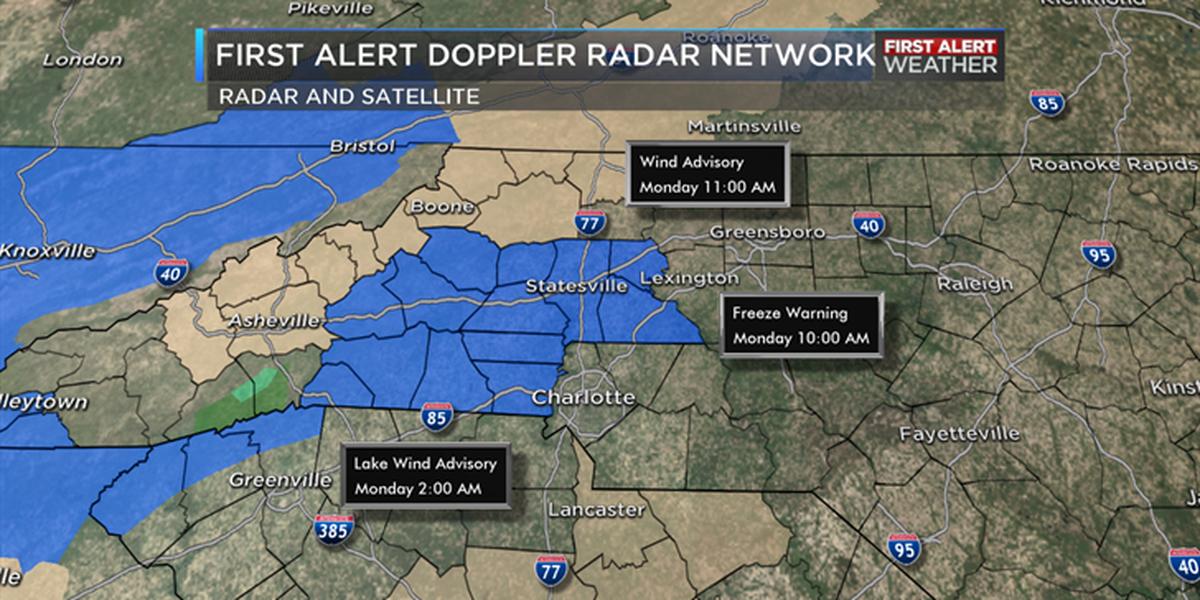 Coldest night of season ahead, Freeze Warning in effect