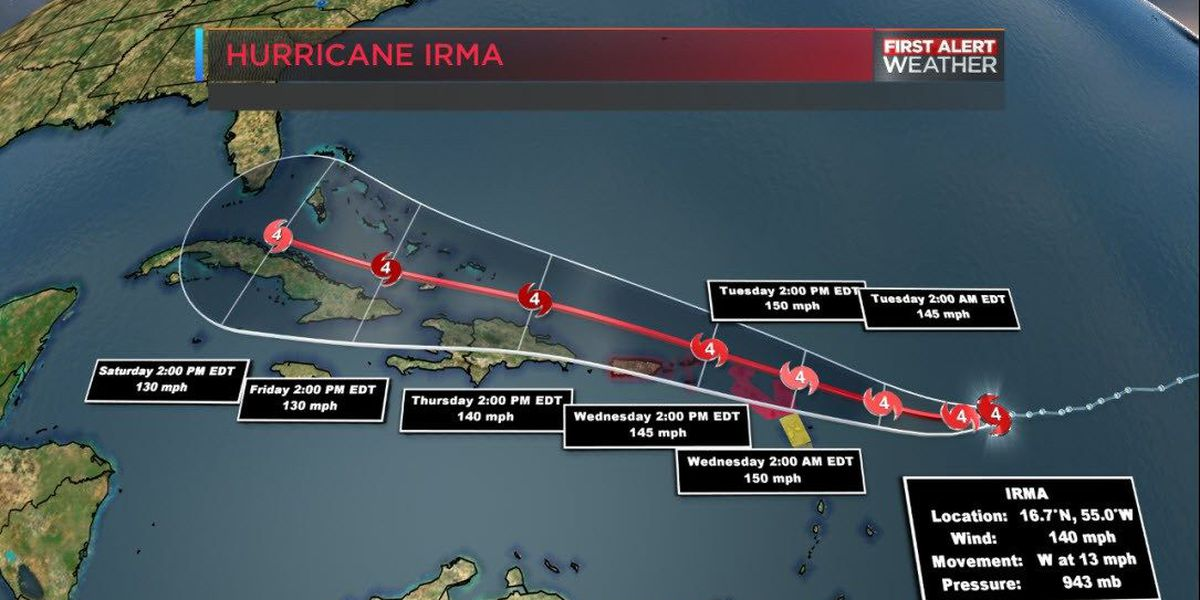 BLOG: Hurricane Irma is a category 4 storm, and strengthening quickly