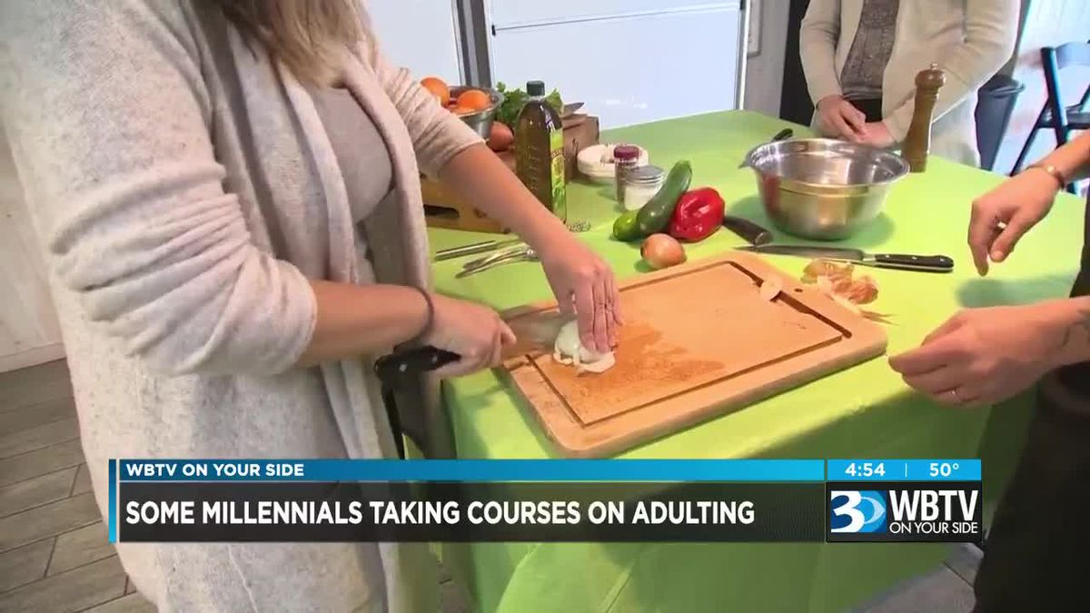 "Some millennials taking courses about ""adulting"""