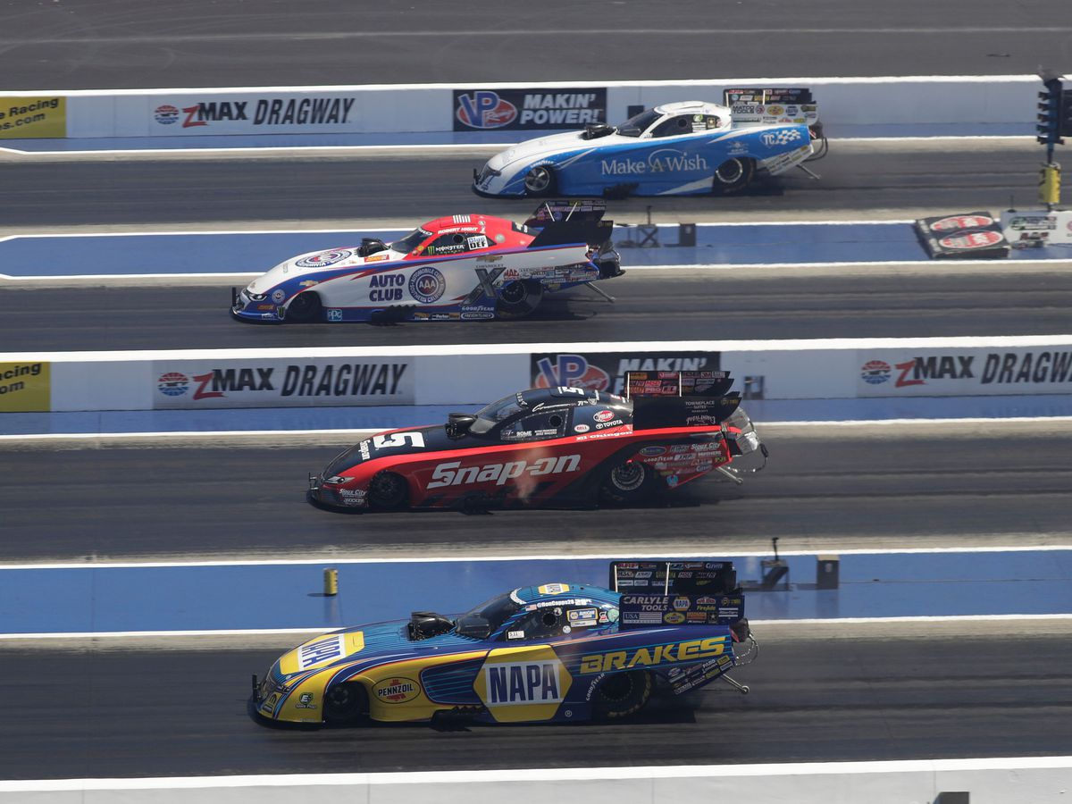 NGK Spark Plugs NHRA Four-Wide Nationals roars into zMAX Dragway this week