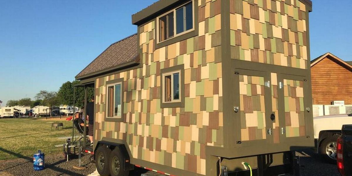 Here's why this Indiana man hauled his tiny house to Charlotte Motor Speedway
