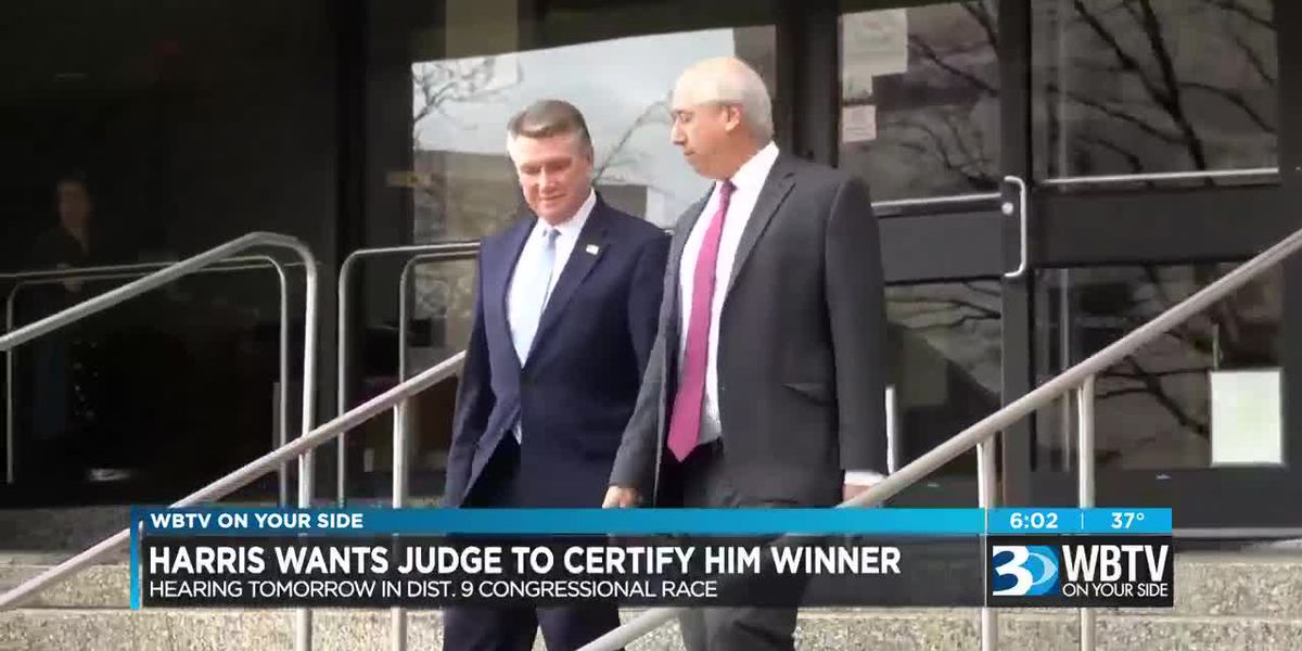 Harris wants judge to certify him winner