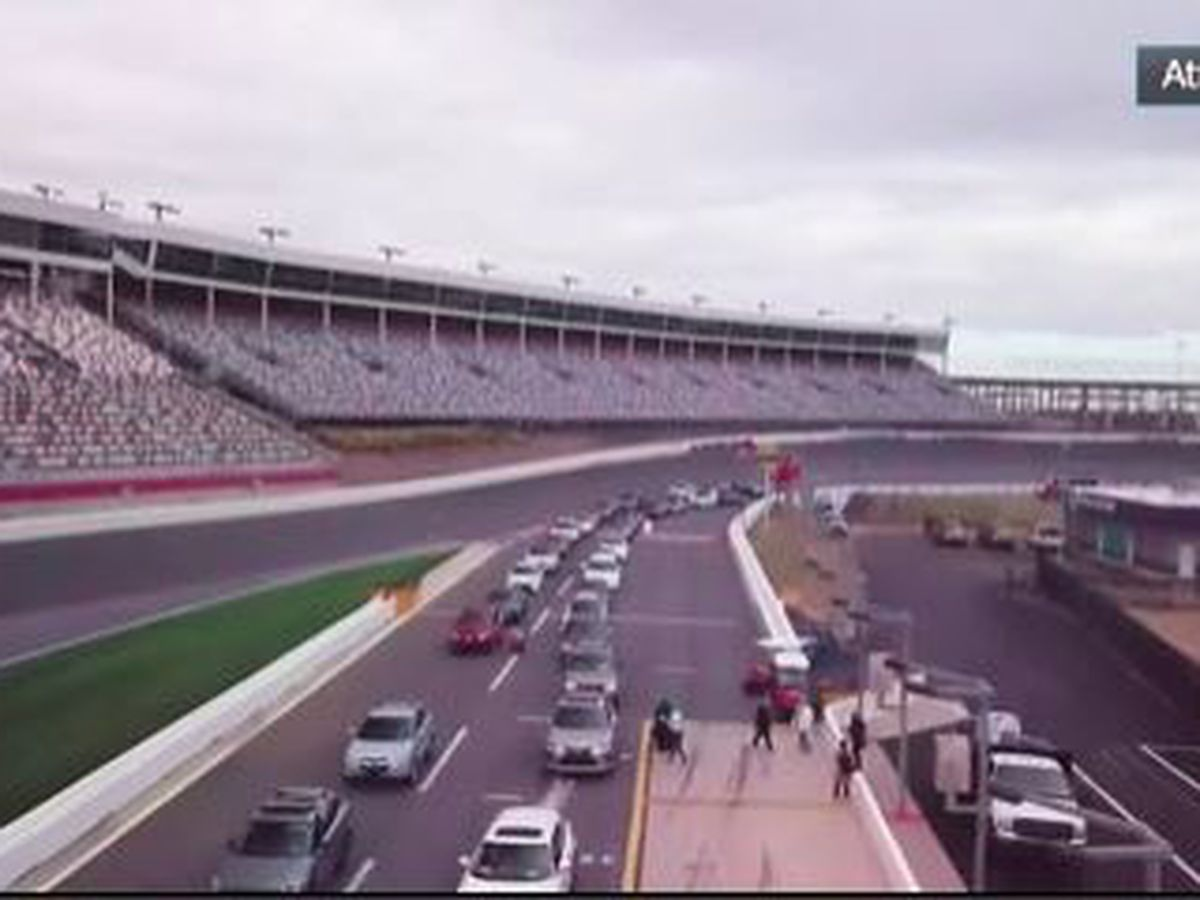 Thousands get COVID-19 vaccination at Charlotte Motor Speedway