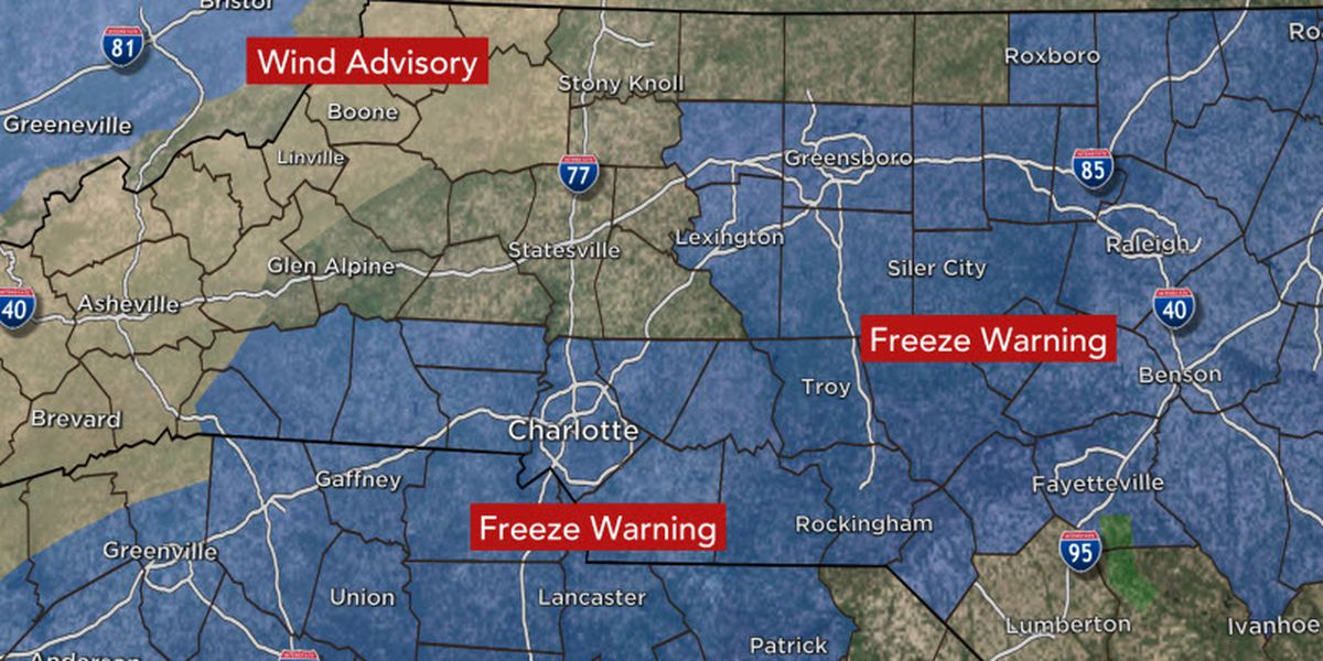 First Alert: Sub-freezing temperatures for Friday and Saturday morning