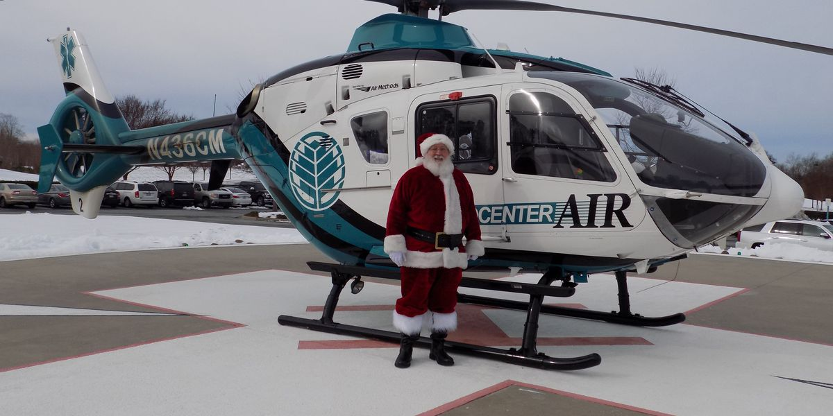 Santa is flying out to visit children in area hospitals with the help of MedCenter Air
