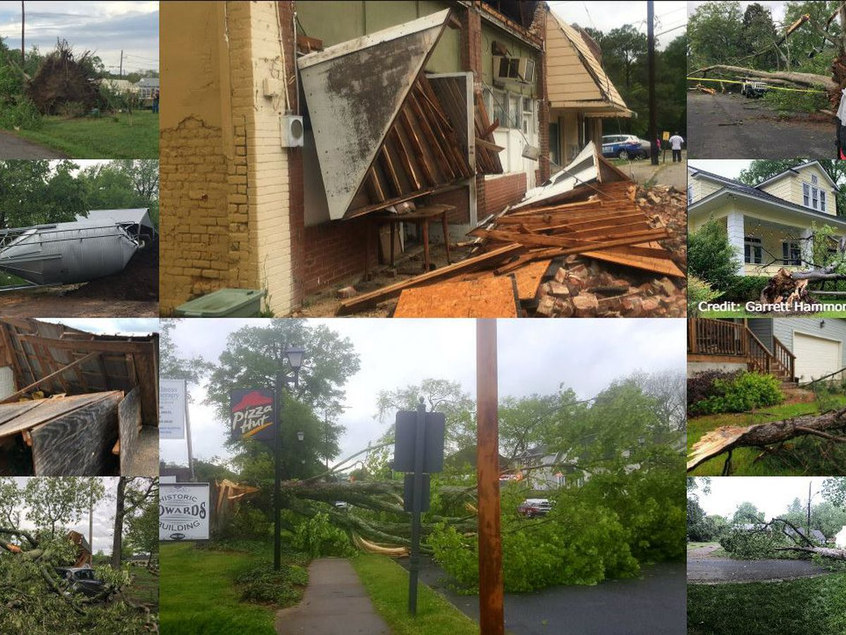 Tornadoes confirmed by NWS crews after surveying damage left by severe weather in the Carolinas