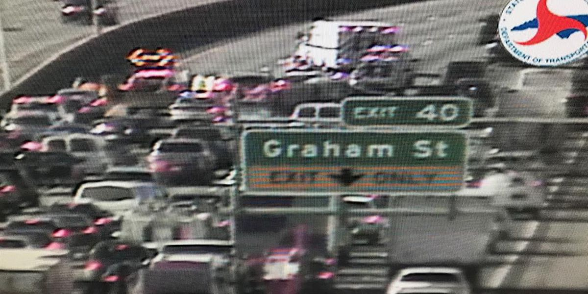 Three hurt in pedestrian crash on I-85 near uptown