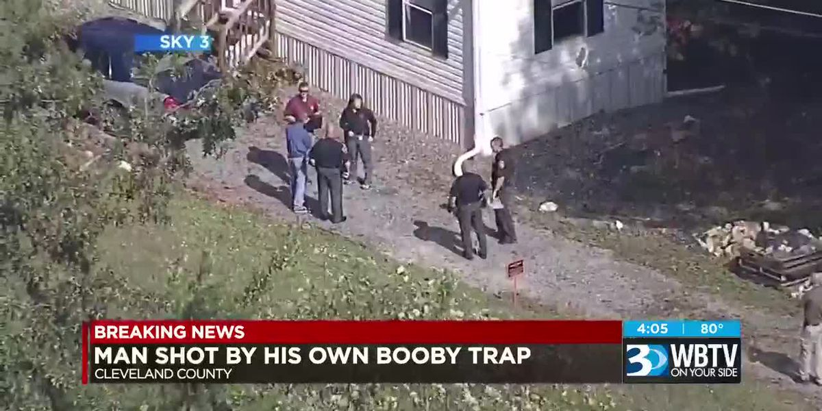 Man shot by own booby trap