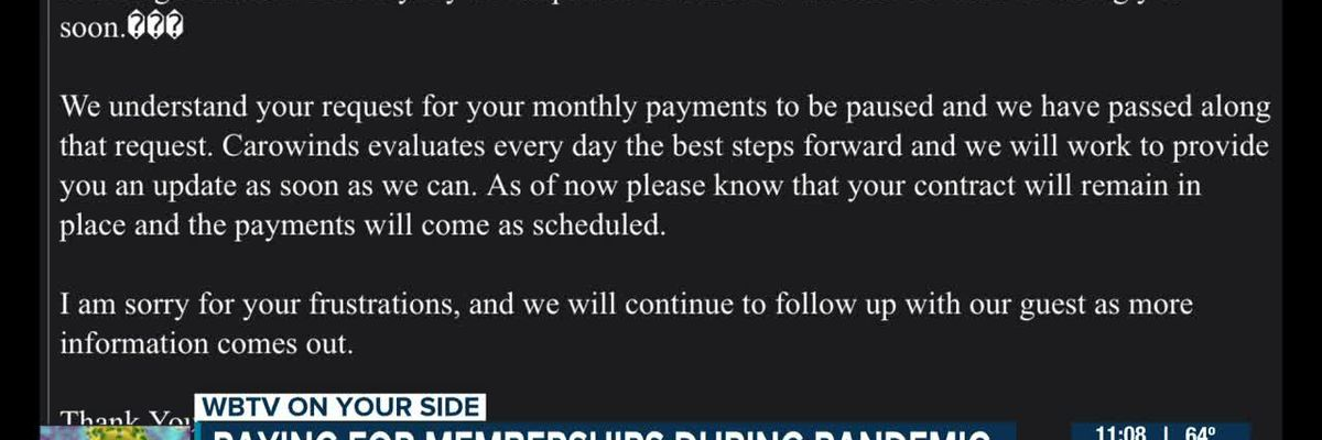 Continuing to pay for memberships while COVID-19 shuts down multiple businesses