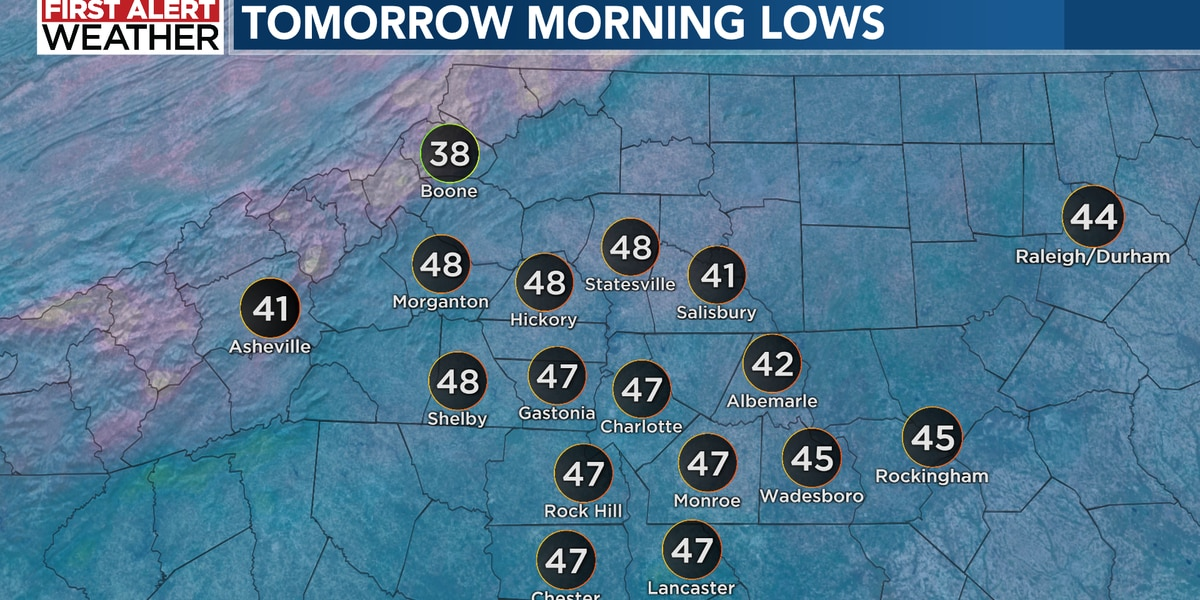 Frost and freeze issues later this week with widespread rain likely for Saturday
